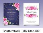 beautiful wedding card template ... | Shutterstock .eps vector #1891364530