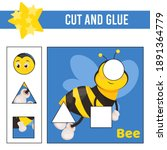cut and glue worksheet. game... | Shutterstock .eps vector #1891364779