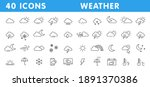 set of 40 weather web icons in... | Shutterstock .eps vector #1891370386