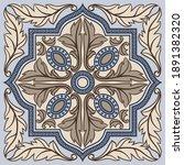 portuguese azulejo ceramic tile ...   Shutterstock .eps vector #1891382320