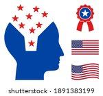 memory content head icon in... | Shutterstock .eps vector #1891383199
