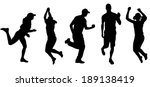 vector silhouette of a people... | Shutterstock .eps vector #189138419