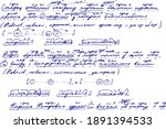 grunge texture of an unreadable ... | Shutterstock .eps vector #1891394533