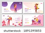 set of web pages for happy...   Shutterstock .eps vector #1891395853