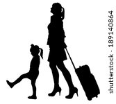 vector silhouette of family on... | Shutterstock .eps vector #189140864
