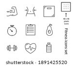 health and fitness icons set ... | Shutterstock .eps vector #1891425520