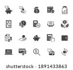 money income flat icon set.... | Shutterstock .eps vector #1891433863