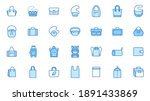 bags line icon set. purse types ... | Shutterstock .eps vector #1891433869