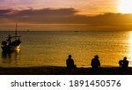 Silhouette Of  The Fishermen...