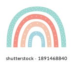hand drawn rainbow. creative... | Shutterstock .eps vector #1891468840