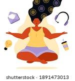 business yoga concept... | Shutterstock .eps vector #1891473013