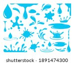 water or oil drops. vector icon ... | Shutterstock .eps vector #1891474300