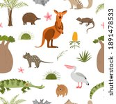 australian animals and plants.... | Shutterstock .eps vector #1891478533