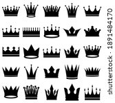 crown set icon  logo isolated... | Shutterstock .eps vector #1891484170