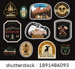 vintage camp patches logos ... | Shutterstock . vector #1891486093