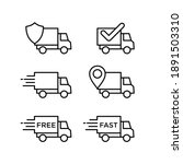 delivery service icon set.... | Shutterstock .eps vector #1891503310
