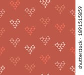 cross stitch embroidered heart... | Shutterstock .eps vector #1891515859