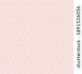 simple heart design. seamless... | Shutterstock .eps vector #1891526056