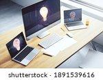 creative light bulb hologram on ...