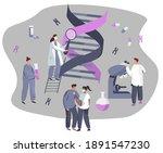 genetic engineering.dna test...   Shutterstock .eps vector #1891547230