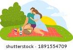 lovely couple sitting outdoor...   Shutterstock .eps vector #1891554709
