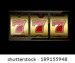 slot machine symbols on black... | Shutterstock .eps vector #189155948