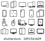 set of smart devices icons... | Shutterstock .eps vector #1891561609