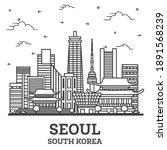 outline seoul south korea city... | Shutterstock .eps vector #1891568239