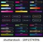 big set of download progress...   Shutterstock .eps vector #1891574596