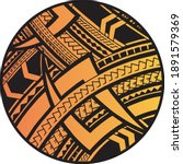 polynesian art tattoo desing... | Shutterstock .eps vector #1891579369