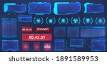 hud screens  frames collection. ...