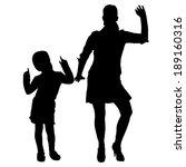 vector silhouette of family on... | Shutterstock .eps vector #189160316