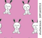 cute rabbits seamless repeating ... | Shutterstock .eps vector #1891603513