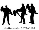 vector silhouette of people who ... | Shutterstock .eps vector #189163184