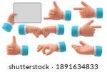 hands gestures 3d cartoon...