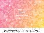 pink and yellow blurred happy... | Shutterstock .eps vector #1891636960