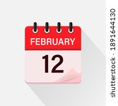 february 12  calendar icon with ... | Shutterstock .eps vector #1891644130