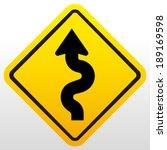 winding road sign  | Shutterstock .eps vector #189169598