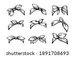 set of retro headband for woman ... | Shutterstock .eps vector #1891708693