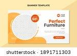 perfect furniture web banner... | Shutterstock .eps vector #1891711303