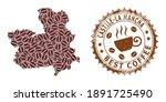 Coffee Mosaic Map Of Castile La ...
