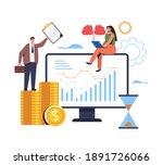 financial business analytics... | Shutterstock .eps vector #1891726066