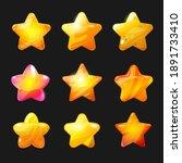 cartoon stars vector icons set  ...