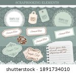scrapbooking elements  vector... | Shutterstock .eps vector #1891734010