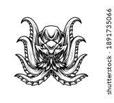 Octopus Line Art T Shirt...