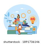 people students character... | Shutterstock .eps vector #1891736146