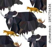 Poly Yak Moose Fox In Cartoon...