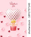 happy valentine's day with cute ... | Shutterstock .eps vector #1891757140
