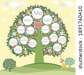 family genealogic tree. parents ... | Shutterstock .eps vector #1891760410