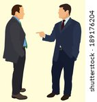 two businessman having a... | Shutterstock .eps vector #189176204